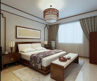 140平中式风格卧室装修效果图