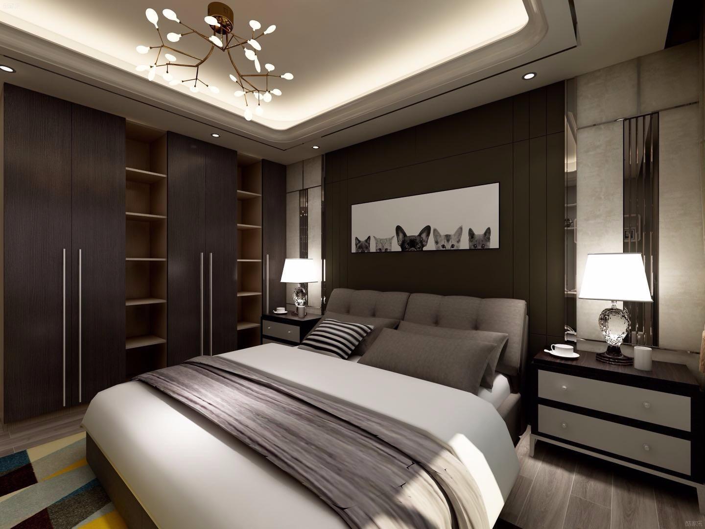 100㎡现代风格卧室装修效果图