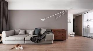簡約風格灰色沙發背景墻裝修效果圖