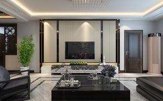 东南亚建筑风格_现代轻奢风格电视背景墙装修设计效果图_齐家网装修效果图