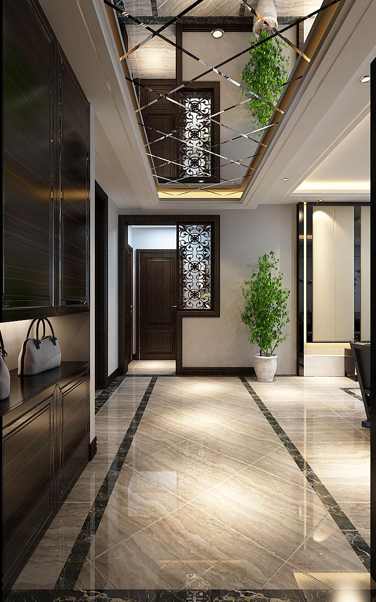 现代三居室玄关过道装修设计效果图