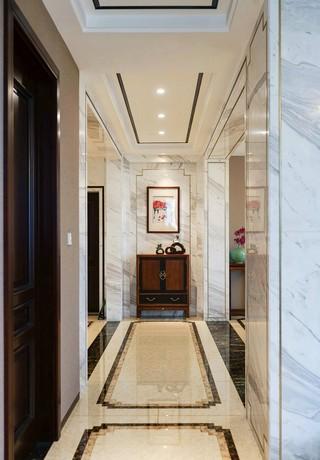 大户型新中式风格走廊装修设计图