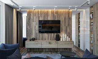 现代简约公寓电视背景墙装修效果图