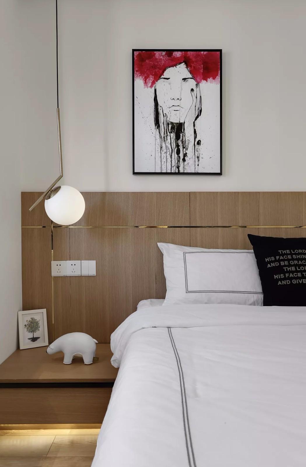 65㎡现代简约风格床头背景墙装修效果图
