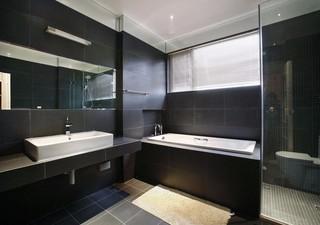 简约风格黑色卫生间装修效果图