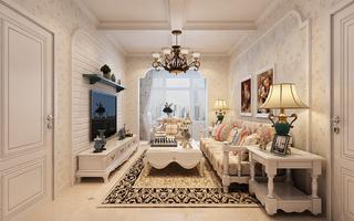 田园混搭两居室客厅装修效果图