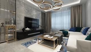 现代混搭客厅装修效果图