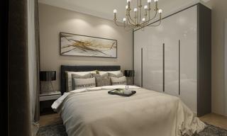现代混搭卧室装修效果图