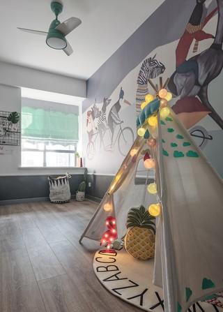 自然北欧风二居儿童房装修效果图