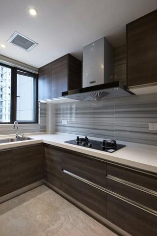 灰色调现代简约风厨房装修效果图