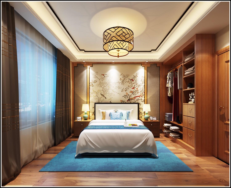 奢华中风卧室装修效果图