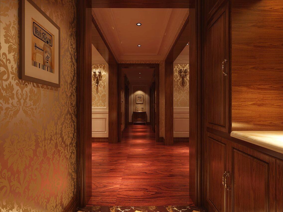 古典风格三居室玄关过道装修效果图