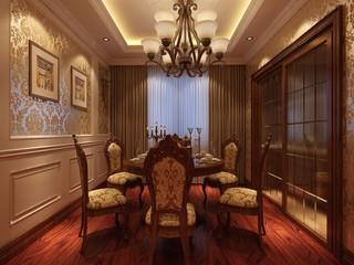 古典风格三居室餐厅装修效果图