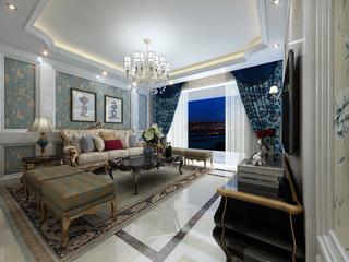 欧式风格沙发背景墙装修效果图