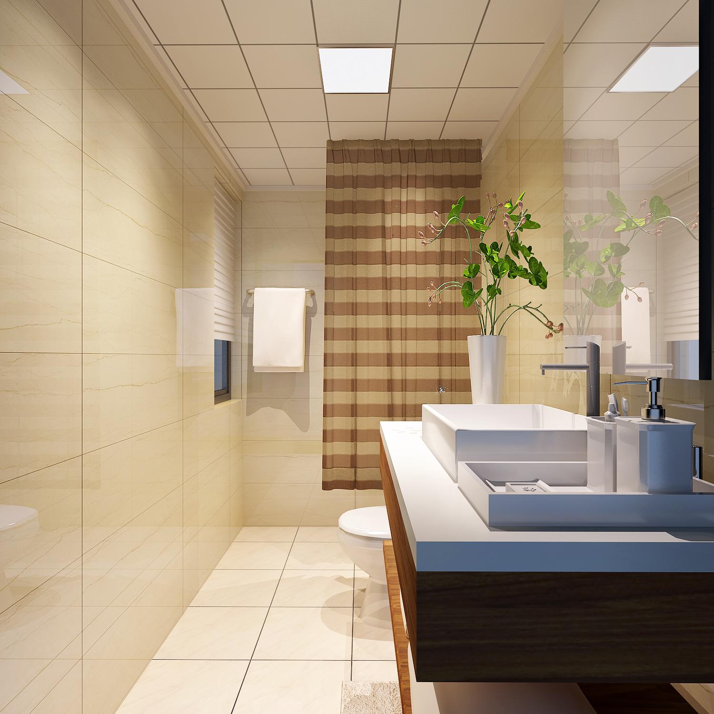 现代三居室卫生间装修效果图