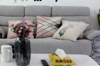 宜家风格装修客厅沙发布置图