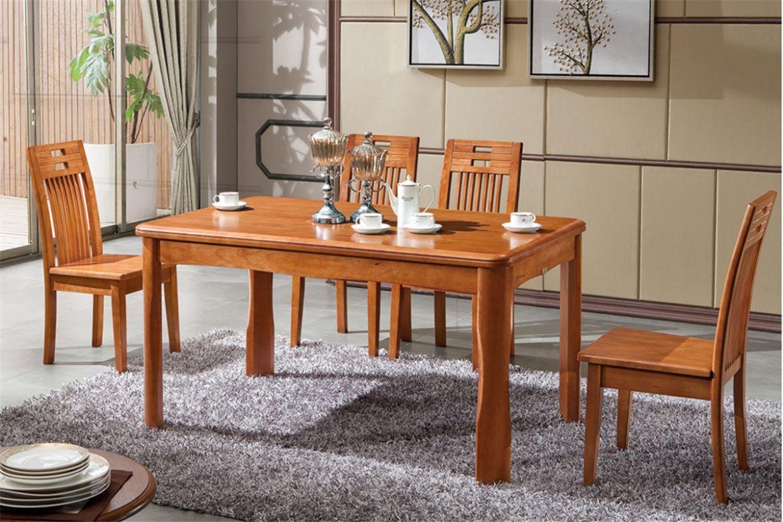 实木折叠餐桌图片大全