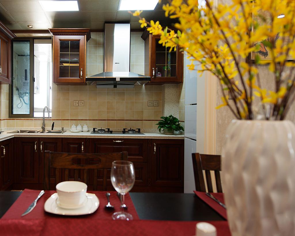 美式风格二居厨房装修效果图