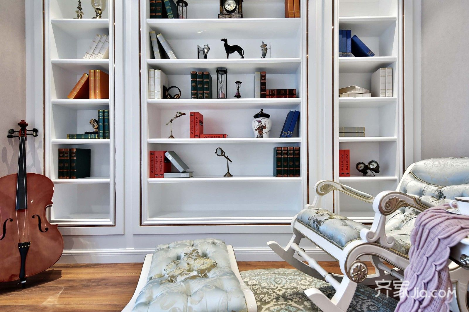 古典欧式风格别墅装修书柜设计图