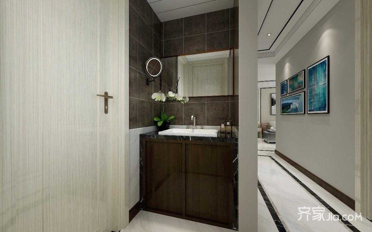 现代风格洗手台设计效果图