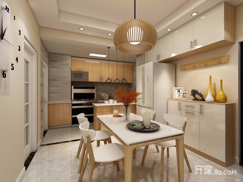 110平米简约风格厨房装修效果图