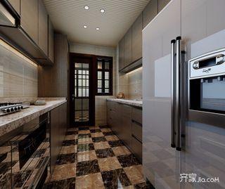 现代中式厨房装修效果图