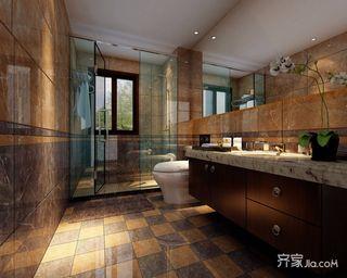 現代中式衛生間裝修效果圖