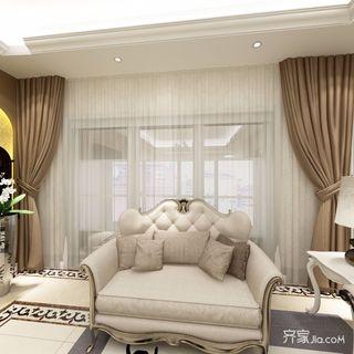 130平欧式三居沙发设计效果图