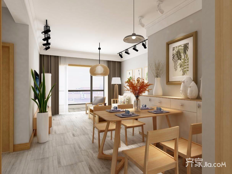 日式风格三居客餐厅装修效果图