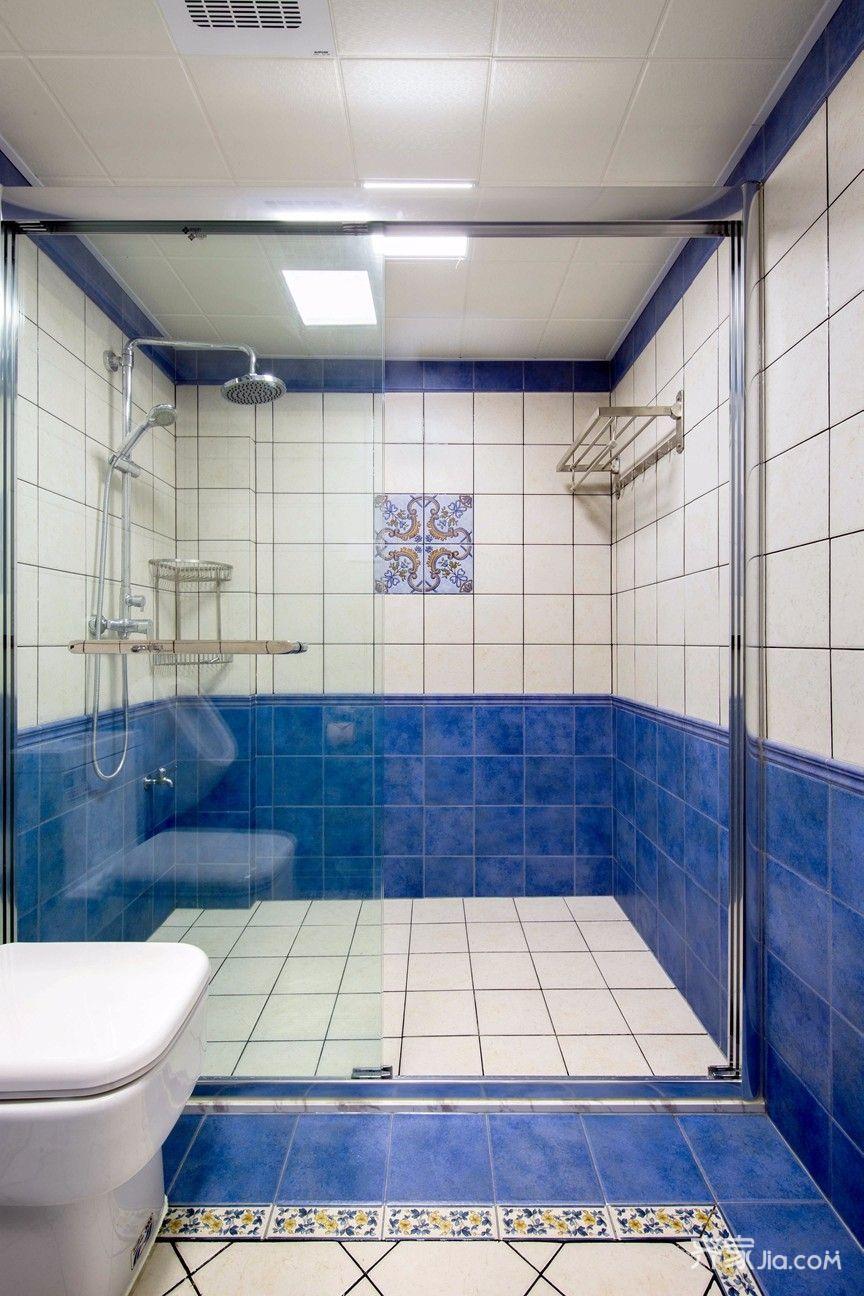 大户型复式美式卫生间装修效果图