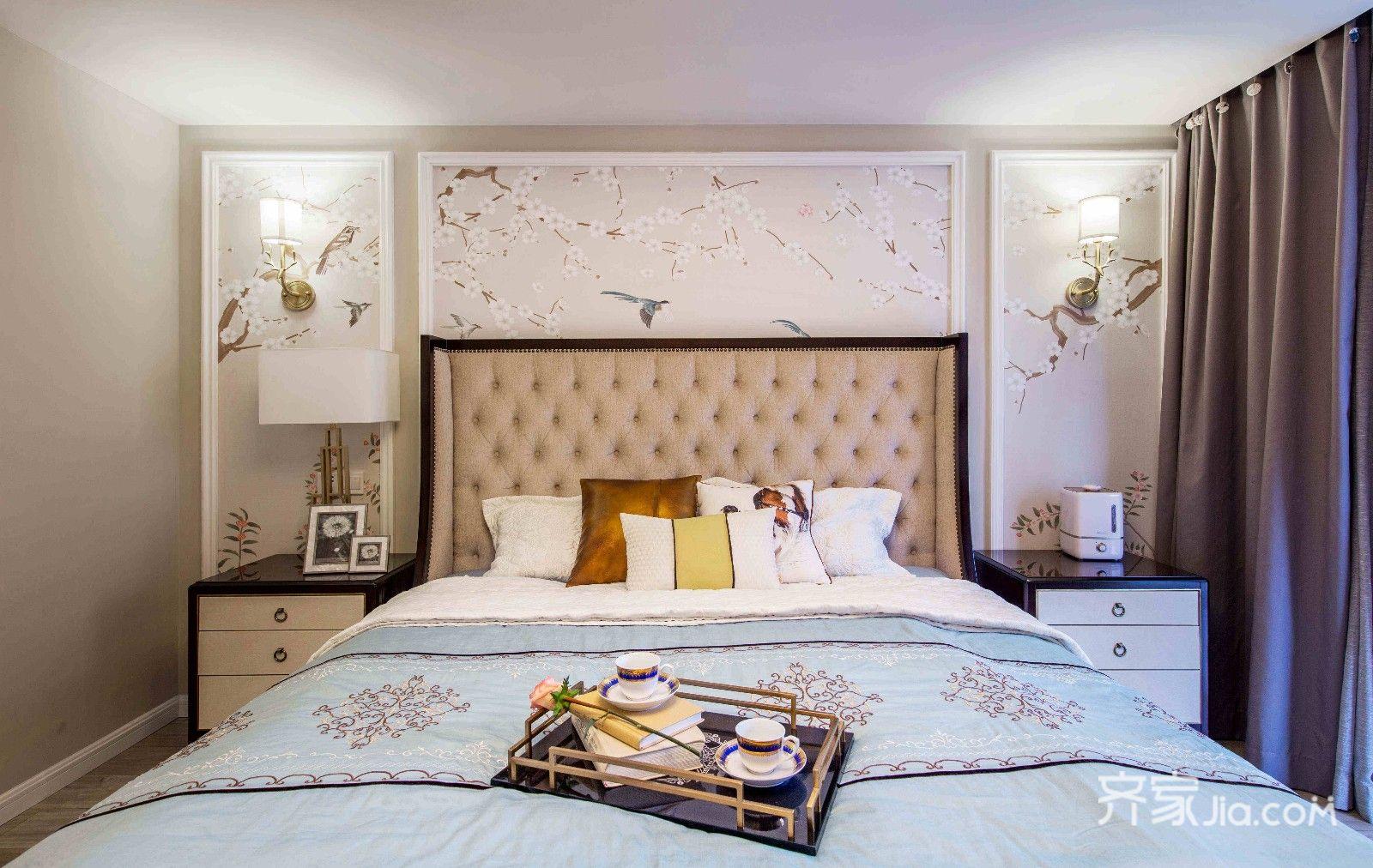 大户型复式美式卧室装修搭配图