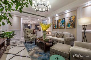 145平美式三居室装修效果图
