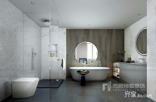 现代简约别墅卫生间装修效果图
