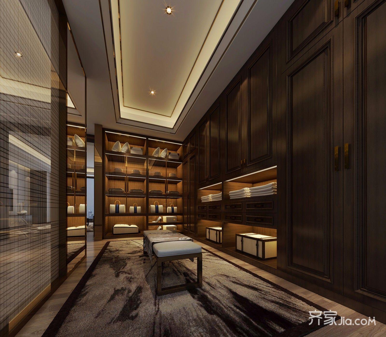 中式风格别墅更衣室设计效果图