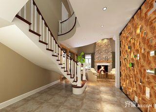 美式风格复式别墅装修楼梯效果图