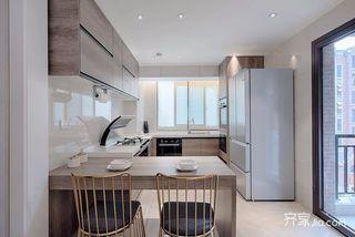 120平现代简约三居厨房装修效果图