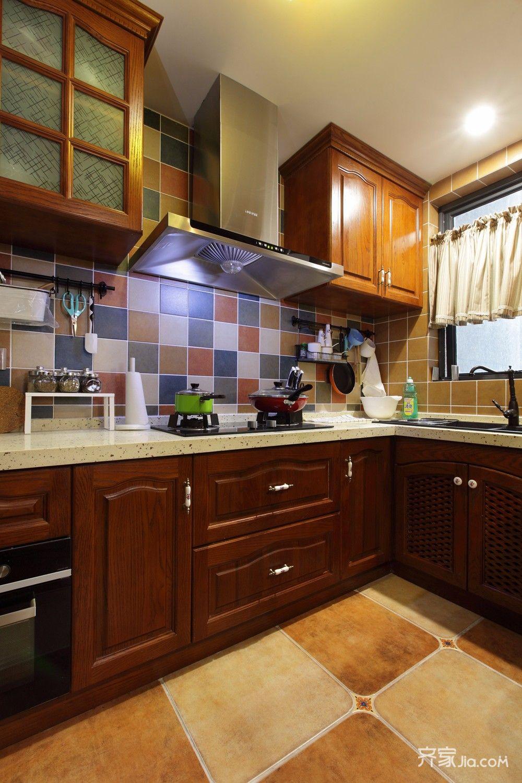 新中式风厨房装修效果图