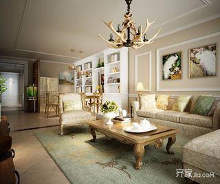 温馨美式客厅装修效果图