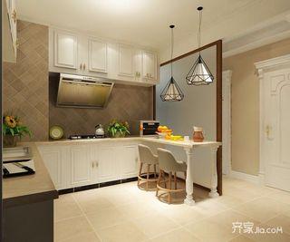 美式开放式厨房装修效果图