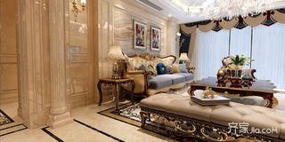 奢华欧式风格沙发背景墙装修效果图