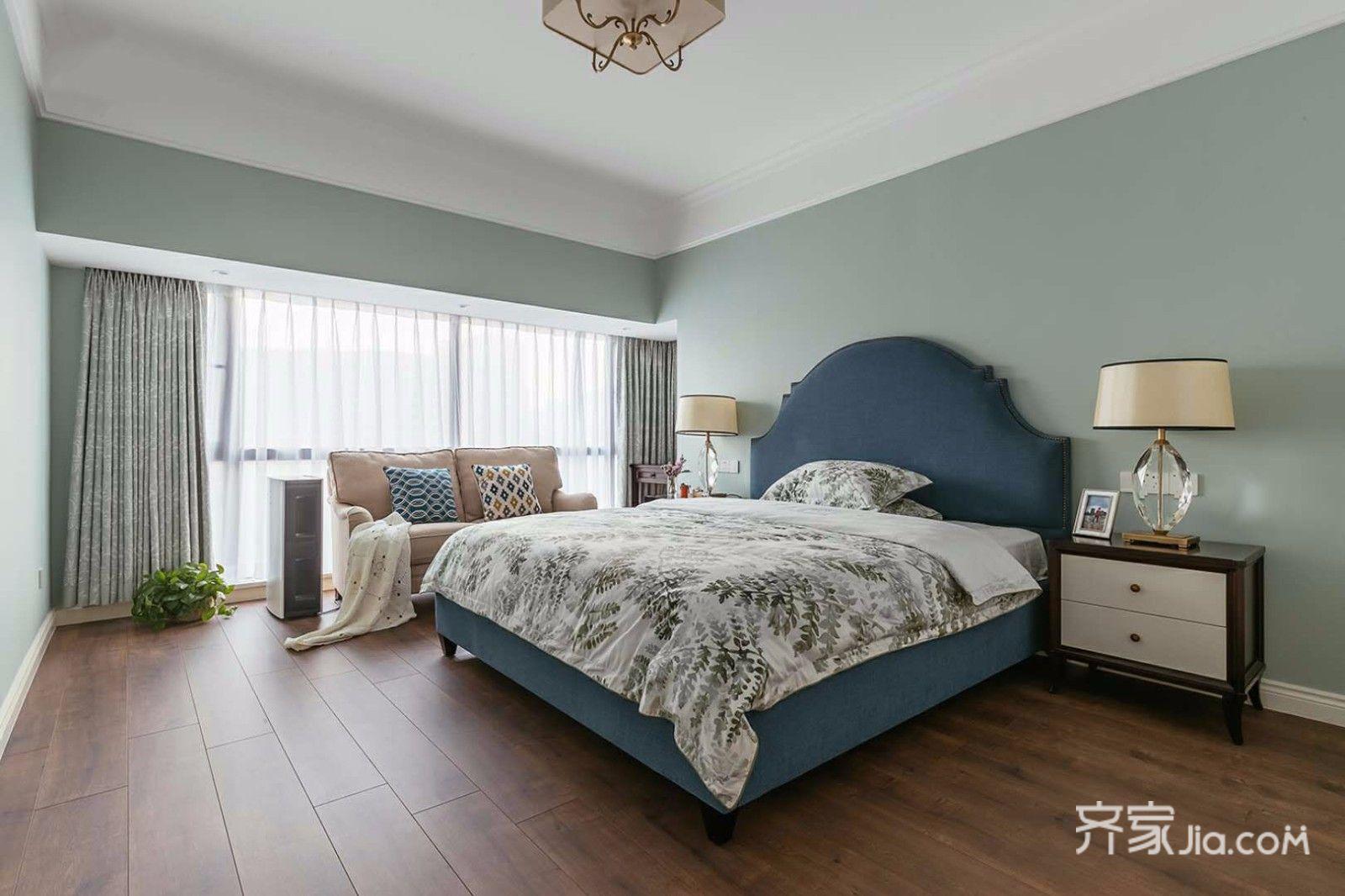 120㎡三居室美式卧室装修效果图