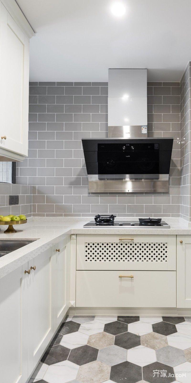 150平现代美式风格厨房装修效果图