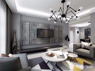 黑白灰现代混搭风格装修效果图