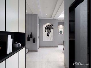 黑白灰现代混搭风格过道装修效果图