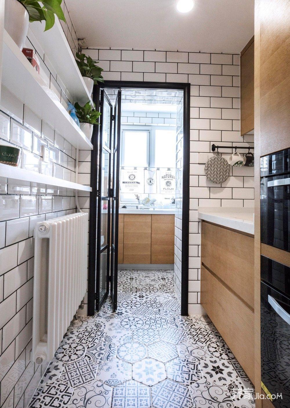小户型北欧二居室装修厨房布局图