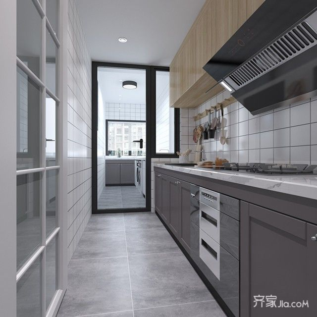 89㎡混搭风格两居厨房装修效果图