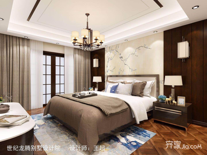 140㎡新中式四居卧室装修效果图