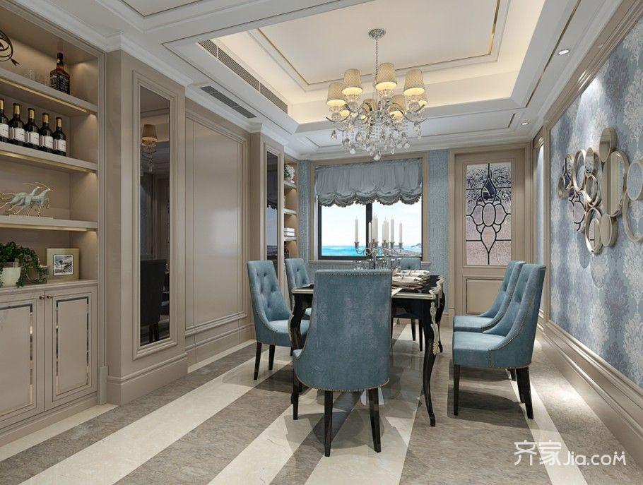新古典风格三居餐厅装修效果图