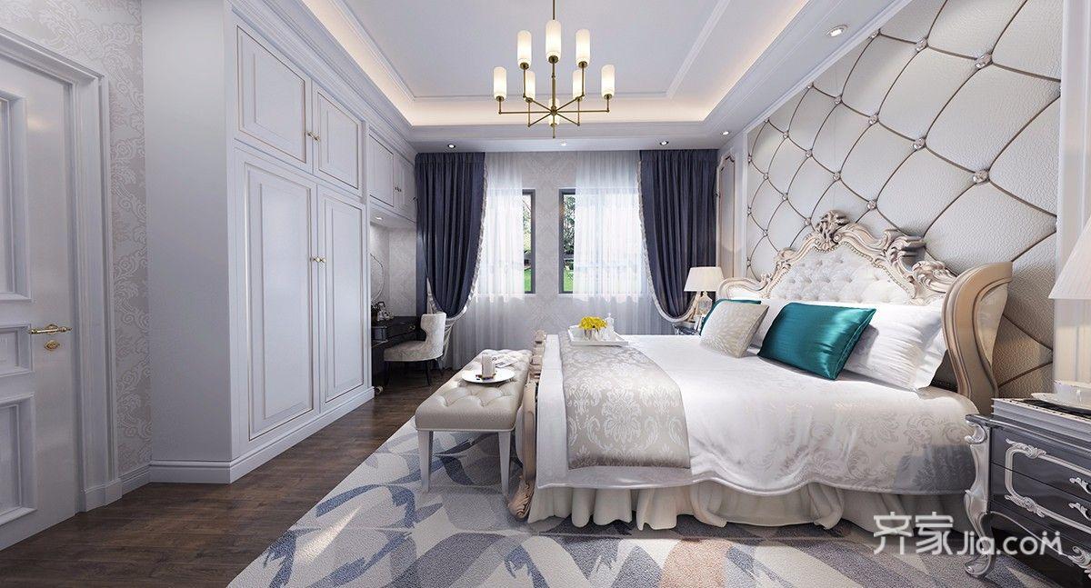 250平欧式风格别墅卧室装修效果图