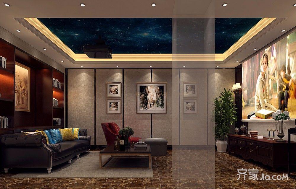 250平欧式风格别墅影音室装修效果图
